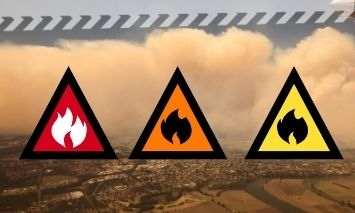 Alert levels are used as a fire spreads