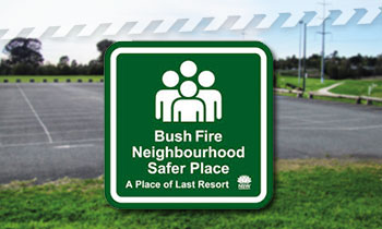 Neighbourhood Safer Places are a place of last resort during a bush fire