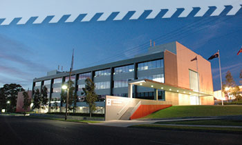 The NSW RFS Headquarters Building at Lidcombe
