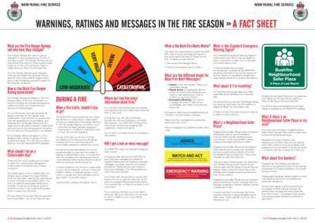 Bush Fire Bulletin liftout design