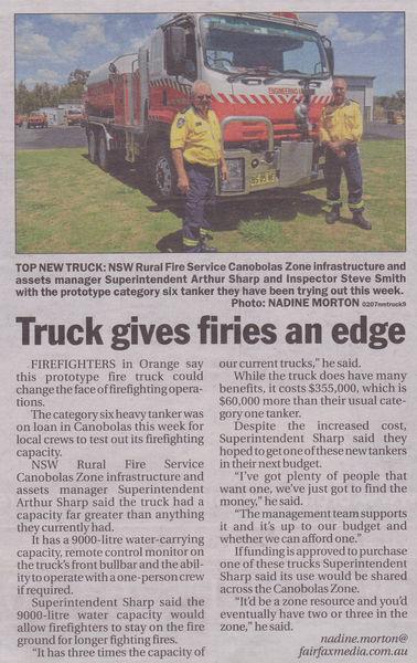 Truck Gives Firies an edge