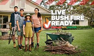 Live bush fire ready