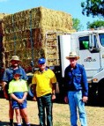 Eugowra family bales out bushfire victims