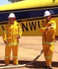 Larras Lee airstrip in operation for Baldry Fire